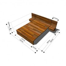 UK SDS/HQI Furniture - Bedroom Double Bed 2000x1500 2P