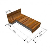 UK SDS/HQI Furniture - Bedroom Single Bed 2000x900 1P